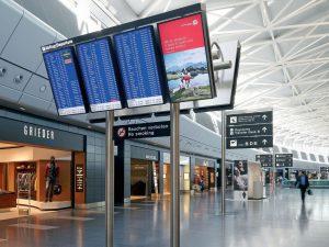 Airport-Displays-NEC-Flughafen-Zürich