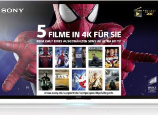 Sony Aktion gratis Festplatte 4K X9