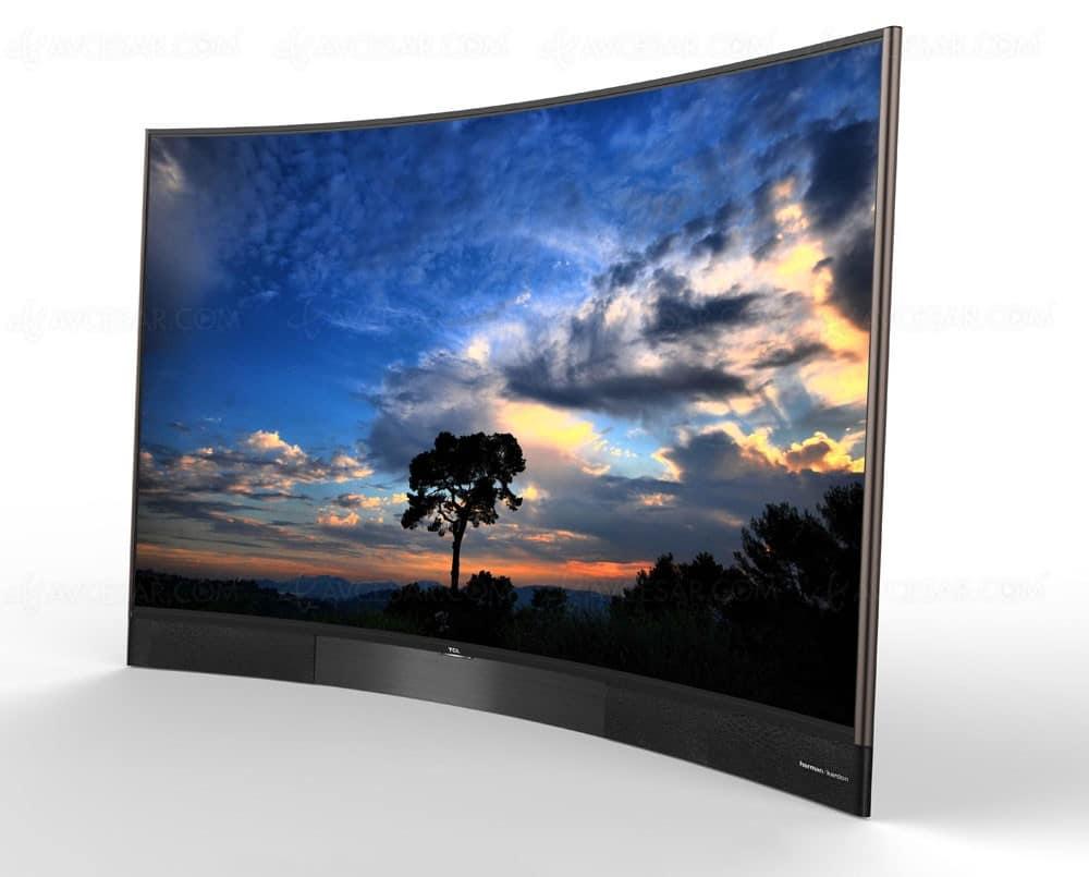 tcl 4k ultra hd tv s8806 im curved design und 55 65 zoll. Black Bedroom Furniture Sets. Home Design Ideas