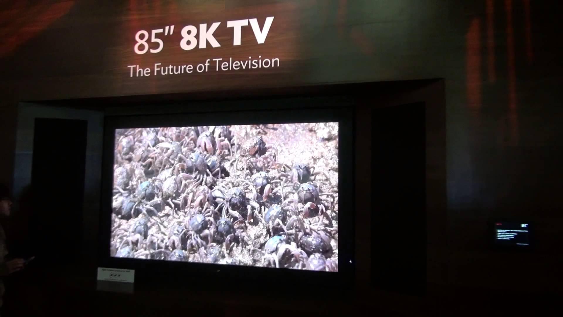 4k zu wenig sharp ver ffentlicht 8k tv mit 85 zoll f r. Black Bedroom Furniture Sets. Home Design Ideas