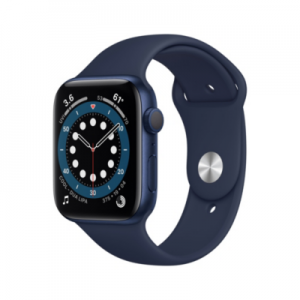 Apple Watch Series 6 GPS 44mm Aluminiumgehäuse Blau Sportarmband Dunkelmarine