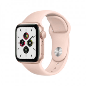 Apple Watch SE GPS 40mm Aluminiumgehäuse Gold Sportarmband Sandrosa