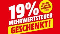 Schnäppchen satt! Media Markt & Saturn schenken 19 % Mehrwertsteuer!*