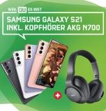 Samsung Galaxy S21 als Hardware Only oder zum 18 GB green LTE Tarif – Gratis AKG Kopfhörer mit 299,00 € UVP